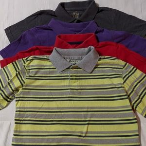 Bundle 4 Pk Short Sleeve Polo Shirts Boys Size 6-7